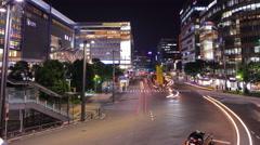 Panning Traffic time-lapse in Japan Stock Footage