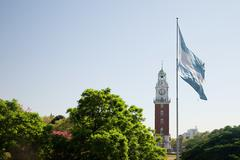 British clock tower, Buenos Aires, Argentina - stock photo