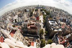 Cityscape from Palacio Barolo, Buenos Aires, Argentina Stock Photos