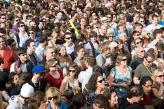 Crowds at Notting Hill Carnival, London - stock photo