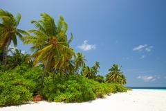 Baughagello Island, South Huvadu Atoll, Maldives - stock photo