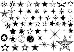 Vector Collection of Star - stock illustration