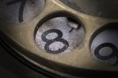 Close up of Vintage phone dial - 8 - stock photo
