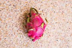 Close-up view of fresh ripe dragon fruits Pitaya. Food concept with copy space - stock photo