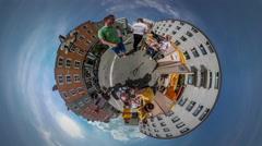 360Vr Video Fair City Day Opole Aqua-Makeup Kiosks Woman Applies For Kid People Stock Footage