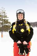 Woman Rescue - stock photo