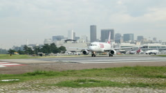 Airplane Taking Off from Rio de janeiro  - Brazil - stock footage