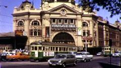 Melbourne Australia City Street Scene 1970s Vintage Film Retro Home Movie 9406 Stock Footage
