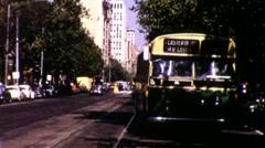 Melbourne Australia City Street Scene 1970s Vintage Film Retro Home Movie 9414 Stock Footage