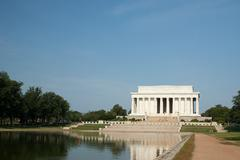 Lincoln memorial and reflecting pool, Washington DC, USA Stock Photos