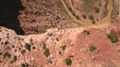 Amazing aerial shot of a redrock cliff in Utah - stock footage