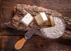 French camembert cheese - stock photo