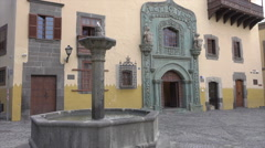 Las Palmas Vegueta district, Casa de Colon historic building, Spain Stock Footage