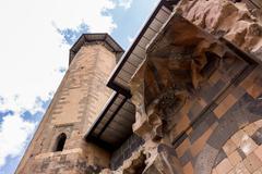 Historical Ani Ruins, Kars Turkey - stock photo