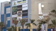 Las Palmas de Gran Canaria El Muelle, shopping center, Spain Stock Footage