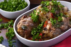 Roasted Lamb Shank casserole - stock photo