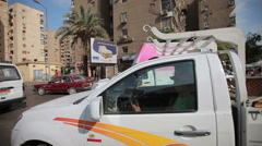 Busy traffic in Cairo, Egypt - stock footage