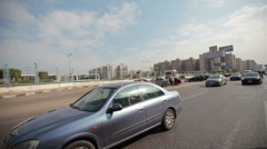 Road and traffic in Cairo, Egypt - stock footage