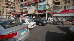 Traffic in Cairo, Egypt - stock footage