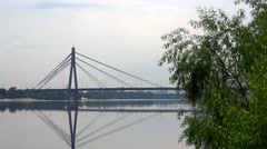 Moskovskyi Bridge view in Kyiv Stock Footage