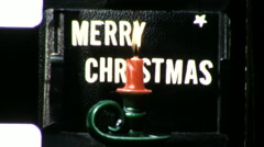 Merry Christmas Greetings Title Plate Graphic 1960s Vintage Film Home Movie 9429 Stock Footage