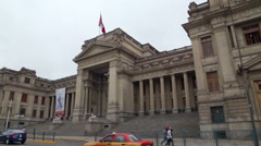 Government palace in Lima, Peru Stock Footage