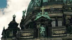 Berliner Dom (Cathedral of Berlin). - stock footage