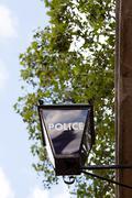 Police station light, London - stock photo