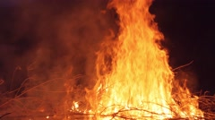 Slow motion shot of bonfire - stock footage