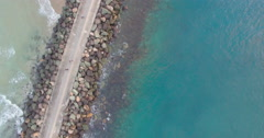 Australian jetty from above - stock footage