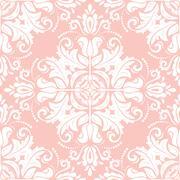 Seamless Oriental Vector Background - stock illustration
