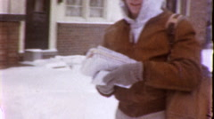 Postal Worker Mailman Delivers Mail 1960s Vintage Film Home Movie  Stock Footage