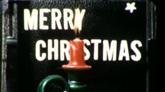 Merry Christmas Greetings Title Plate Graphic 1960s Vintage Film Home Movie 9430 Stock Footage