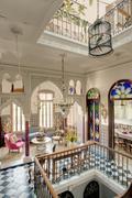Beautiful Moroccan style townhouse - stock photo