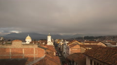 Cuenca, Ecuador. Sunrise. View on old town. 4K time lapse - stock footage