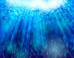 Under water and light bokeh abstract background Stock Illustration