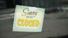 Sorry we're closed plaque Stock Footage