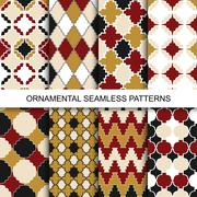 Vintage ornamental patterns - seamless. - stock illustration