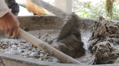 Mixing cement for the preparation of Construction. Stock Footage