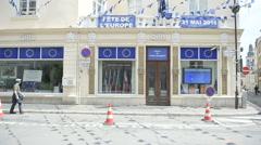 Maison de l'Europe - Centre d'information europeen Stock Footage