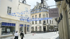 People and Maison de l'Europe - Centre d'information europeen Stock Footage