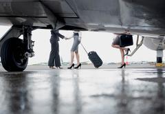 Successful and powerful businesswomen - stock photo
