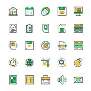 User Interface and Web Icons - stock illustration