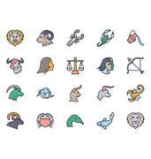 Zodiac Illustration icons Stock Illustration