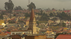 Cuenca, Ecuador. View on old town and mountain behind. 4K time lapse Stock Footage