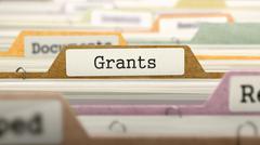 Grants Concept on Folder Register - stock illustration