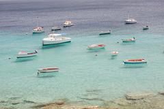 Boats on sea, Curacao, Antilles - stock photo