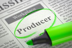 Job Opening Producer - stock illustration