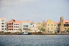 Willemstad harbor, Curacao, Antilles - stock photo