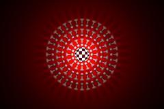 Chess sun (metaphor) .3D render illustration - stock illustration